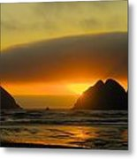 Sunset On The Oregon Coast Metal Print