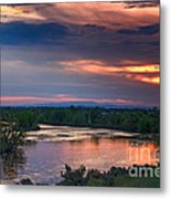 Sunset On The Payette  River Metal Print