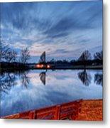 Sunset On The Pond Metal Print