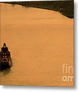 Sunset On The River Bend Metal Print