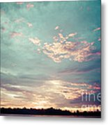 Sunset On The River In The Peruvian Amazon Jungle Metal Print