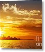 Sunset On The Sea Metal Print