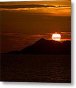 Sunset On The Sea Of Cortez Metal Print by Robert Bascelli