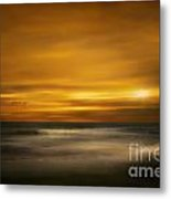 Sunset On The Surf Metal Print by Tom York Images