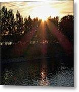 Sunset On The Volga River Metal Print