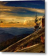 Sunset On Top Of Mount Mitchell Metal Print