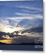 Sunset On Uyuni Salt Flats Metal Print