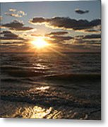 Sunset On Venice Beach  Metal Print