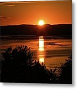 Sunset On Winnesheik Metal Print