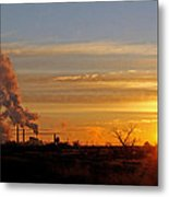 Sunset Out West Metal Print