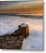 Sunset Over A Rough Sea II Metal Print