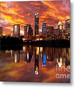 Sunset Over Austin Metal Print