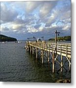 Sunset Over Bar Harbor Metal Print