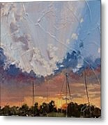 Sunset Over Bay Point Metal Print by Laura Lee Zanghetti