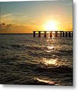 Sunset Over Boca Grande Florida Metal Print