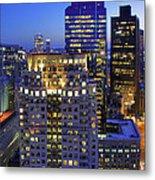 Sunset Over Boston - Financial District Skyline Metal Print