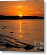 Sunset Over Brewster Flats Metal Print