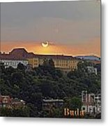 Sunset Over Budapest Metal Print