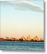 Sunset Over Buffalo New York Metal Print