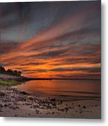 Sunset Over Buzzards Bay Metal Print