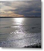 Sunset Over Calypso Beach Metal Print