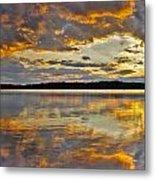 Sunset Over Canobie Lake Metal Print