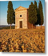 Sunset Over Cappella Di Vitaleta Metal Print