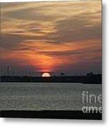 Sunset Over Charleston Harbor Metal Print