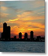 Sunset Over Chicago 0349 Metal Print