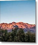 Sunset Over Death Valley Metal Print