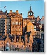 Sunset Over Edinburgh Metal Print