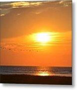 Sunset Over Gray's Beach Yarmouth Cape Cod Metal Print