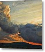 Sunset over Holy Cross Mountains Metal Print