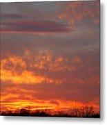 Sunset Over Iowa Metal Print