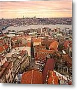 Sunset Over Istanbul Metal Print