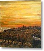 Sunset Over Jerusalem Metal Print