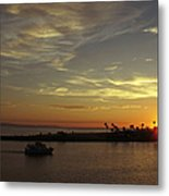Sunset Over Jetty Point Metal Print
