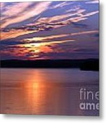 Sunset Over Jordan Metal Print