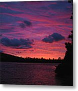 Sunset Over Lake Bailey Metal Print