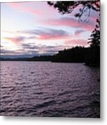 Sunset Over Lake Catchacoma 2 Metal Print