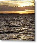 Sunset Over Lake Cazaux Metal Print