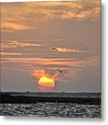 Sunset Over Lake Como Metal Print