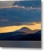 Sunset Over Lake Pend Oreille Metal Print