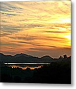 Sunset Over Lake Wohlford Metal Print