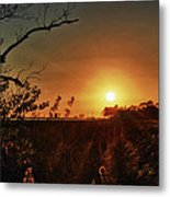 Sunset Over Little Lagoon Bayou Metal Print