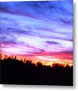 Sunset Over Madisonville Metal Print by Regina McLeroy