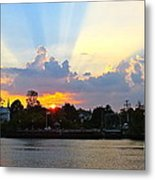 Sunset Over Mauricetown  Metal Print