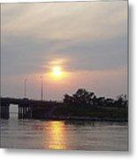 Sunset Over Meadowbrook Bridge Metal Print