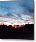 Sunset Over Mecca Pike Metal Print