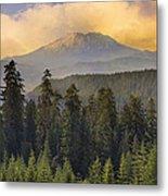 Sunset Over Mount St Helens Metal Print